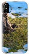 Melting Snow On Lawn IPhone Case