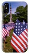 Memorial Day Flag Garden IPhone Case