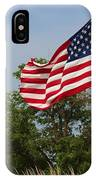 Memorial Day Flag's With Blue Sky IPhone X Case