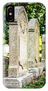 Memphis Elmwood Cemetery Monument - Four In A Row IPhone Case