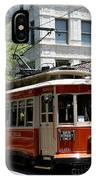 Memphis Trolley On Main Street IPhone Case