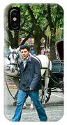 Men And Carriages In A Street Near Saint Sophia's In Istanbul-turkey IPhone Case