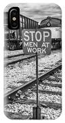 Men At Work IPhone Case