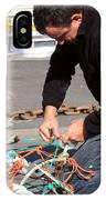 Mending The Nets IPhone Case