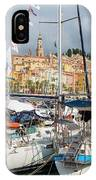 Menton, France.  View Over Harbour IPhone Case