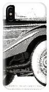 Mercedes 540k  - Parallel Hatching IPhone Case