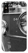 Mercedes 544k Grille - Bw IPhone Case