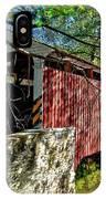 Mercers Mill Covered Bridge IPhone Case
