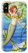 Mermaid With Red Hair IPhone Case