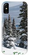 Merry Christmas - Winter Trees And Rising Clouds IPhone Case