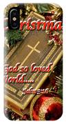 Merry Christmas - John 3 V16 IPhone Case
