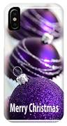 Merry Christmas Purple Baubles IPhone Case