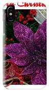 Merry Christmas Red Ribbon IPhone Case
