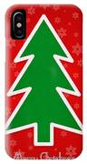 Merry Christmas Tree With Snowflake Background  IPhone Case