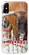 Longhorns Merry Christmas Ya'll IPhone Case