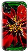 Merry Xtmas - Poinsettia IPhone Case