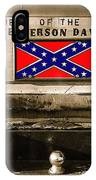 Mescalero Apace Truck Honoring Jefferson Davis Tucson Arizona Vignetted Color Added 2008 IPhone Case