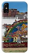 Message Of Joy From Potala Palace In Lhasa-tibet  IPhone Case