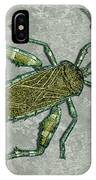 Metallic Green And Gold Prehistoric Insect  IPhone Case