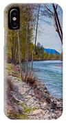 Methow River Coming From Mazama IPhone Case
