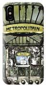 Metropolitain Entrance Paris IPhone Case