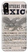 Mexican American War Flyer IPhone Case