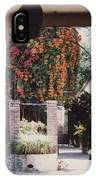 Mexico Garden Patio By Tom Ray IPhone Case