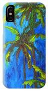 Miami Beach Palm Trees In A Blue Sky IPhone Case