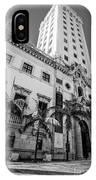Miami Freedom Tower 1 - Miami - Florida - Black And White IPhone Case