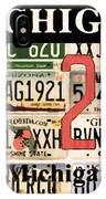 Michigan License Plate IPhone Case