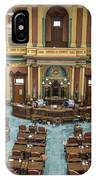 Michigan State Senate From Above  IPhone Case