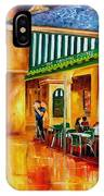 Midnight At The Cafe Du Monde IPhone Case