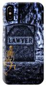 Midnight In The Graveyard With A Lawyer IPhone Case
