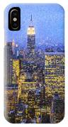 Midtown Manhattan And Empire State Building IPhone Case