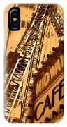 Midway Cafe Sepia IPhone Case