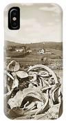 Mike Noon Monterey Whaler On Montereys Wharf  Circa 1890 IPhone Case