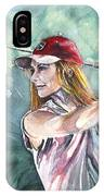 Miki Self Portrait Golfing IPhone Case