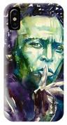Miles Davis Watercolor Portrait.2 IPhone Case