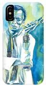 Miles Davis Watercolor Portrait.3 IPhone Case