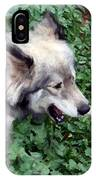 Miley The Husky With Blue And Brown Eyes - Impressionist Artistic Work IPhone Case
