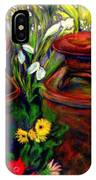 Milk Cans At Flower Show Sold IPhone Case