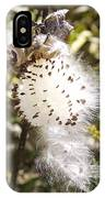 Milkweed Seeds 3 IPhone Case