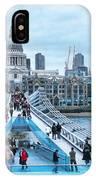 Millenium Bridge And St Pauls Cathedral IPhone Case