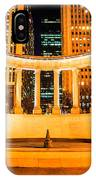 Millennium Monument Fountain In Chicago IPhone Case