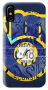 Milwaukee Brewers Vintage Baseball Team Logo Recycled Wisconsin License Plate Art IPhone X Case