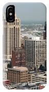 Milwaukee Wisconsin Skyline Aerial IPhone Case