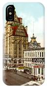 Milwaukee's Wisconsin Street 1899 IPhone Case