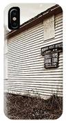 Mingo Post Office And Foxhill Farms General Store IPhone Case