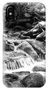 Mini Cascades Smoky Mountains Bw IPhone Case
