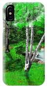 Minnesota Birch Lake And Bear IPhone Case